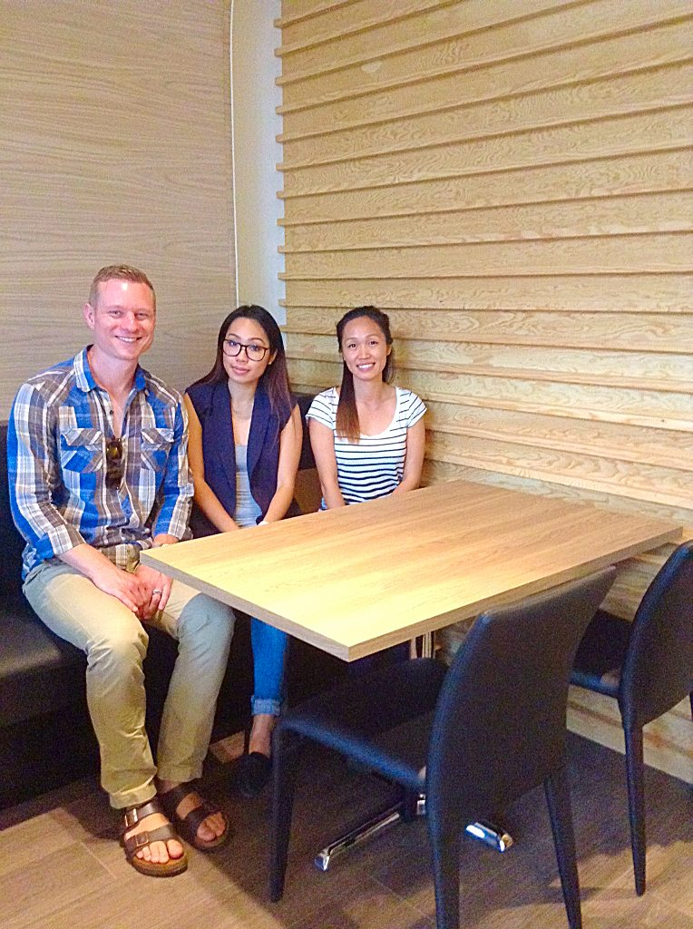 Architect Kris Benes (left) worked with Ann (centre) and Kim (right) Nguyen to design SEN Asian Cuisine