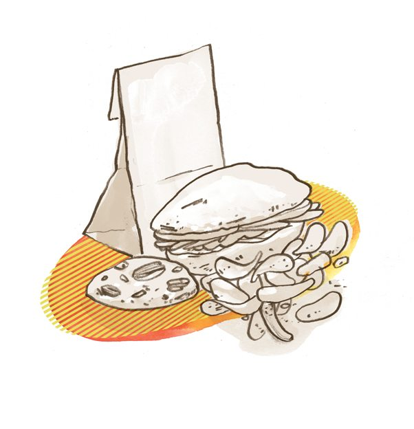 Holland's Cake & Shake takes the brown bag experience up a notch. Illustration by Jeff Kulak