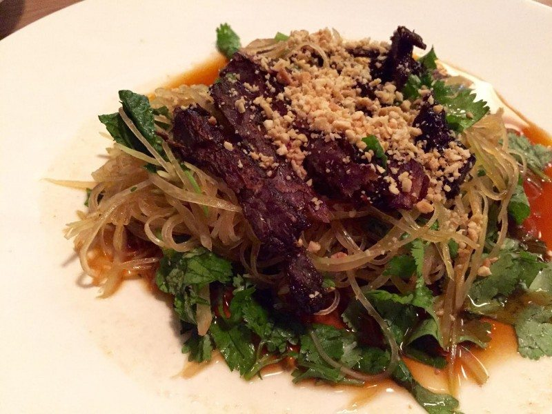 Sen's papaya salad. Photo: Anne DesBrisay