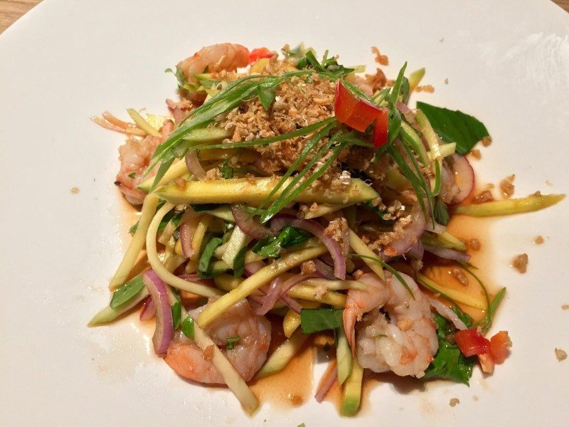 Sen's mango salad. Photo: Anne DesBrisday