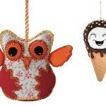 Felt owl, $4.99 at HomeSense, Ice-cream cone, $11.95 at The Papery