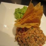 Mayan pumpkin seed dip, fresh tortilla chips and central Mexico style guacamole