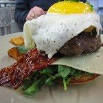 Art-Is-In Bakery's bacon & egg burger