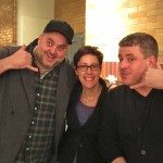 A Joe Beef sandwich: David McMillan, Shawna Wagman and Fred Morin (L to R)