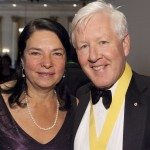 Arlene Perly Rae from the Politics and the Pen committee and Interim Leader of the Liberal Party of Canada Bob Rae.