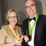 Elizabeth May, Leader of the Green Party of Canada, with author Terry Fallis.