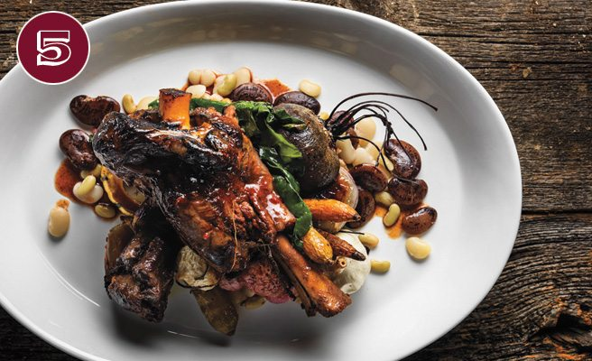 The Dish: Braised lamb shank and oxtail with local farm-grown beets ...