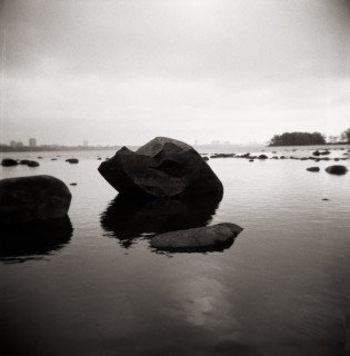 """The River #11"", Silver Gelatin, 20"" x 20"" by Pedro Isztin."