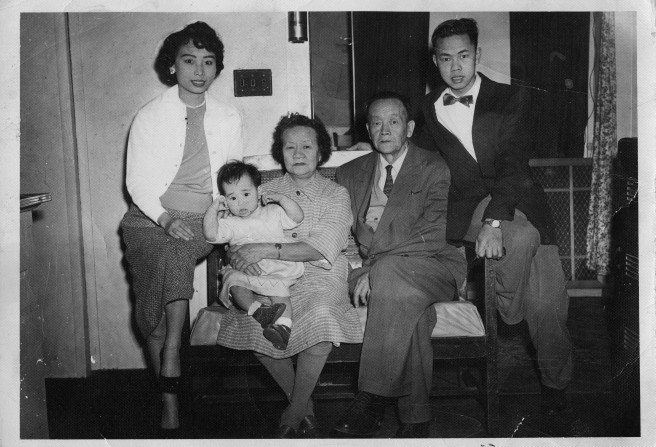 LOTF Janet and Golden Lang and their infant daughter, Arlene and Goldens Parents courtesty of Golden Lang.jpg