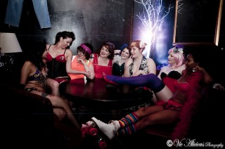 Members of Rockalily Burlesque will perform at the Zombie Strippers Halloween party.