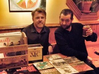 Patrick Shanks, left, and Jeff Welch invite you to raise a pint and hunt for records this Sunday at Irene's.