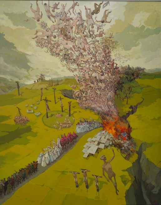 Gerald Trottier, Pilgrimage I, 1980, acrylic on canvas, 40 x 60 in, Collection of the Ottawa Art Gallery, donation by Irma Trottier, 2013, photo David Barbour