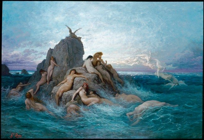 Gustave Doré, Oceanids or Naiads of the Sea, c. 1878 Oil on canvas, 127 × 185.4 cm Lawrence B. Berenson