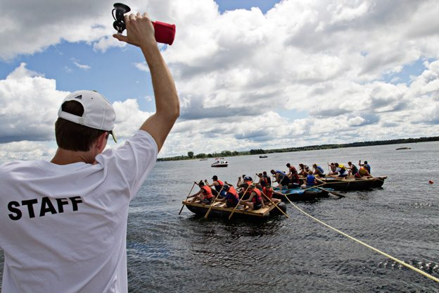 The starting line of the Morrisburg Tubie race. Photo by David Trattles.
