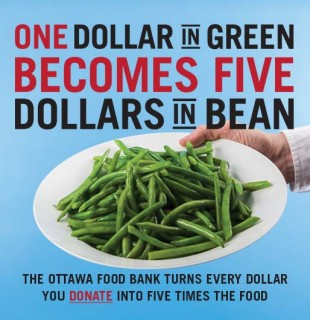 $1 is worth $5 to the Ottawa Food Bank