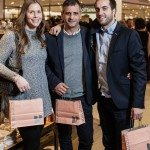 Stephanie Alberga, Livio Folini, and John Fiore of Steve Madden Canada. Photo by Rémi Thériault