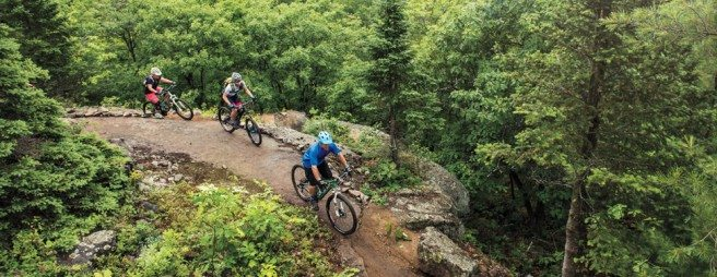 Check out the mountain biking trails at Mont Ste Marie. Photo by Christian Lalonde - Photoluxstudio.com