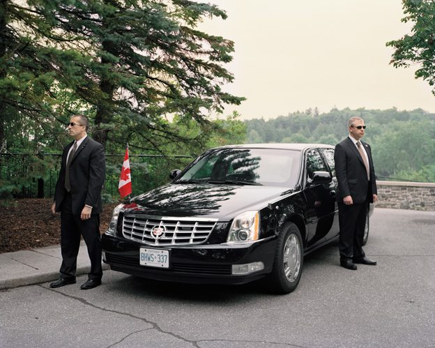 The prime minister's armour-plated limousine. Photo by Tony Fouhse