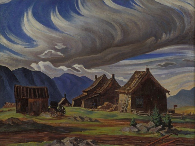 George Pepper, Old Barn, Québec, 1937, oil on canvas, 62 cm x 75 cm, Firestone Collection of Canadian Art, The Ottawa Art Gallery: Donated to the City of Ottawa by the Ontario Heritage Foundation, 1974.