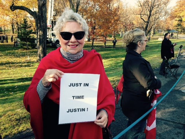 Rachel Boisvert, from Ottawa, took a taxi to Rideau Hall and waited in line since about 8:15 a.m. Photo by Jana Chytilova.