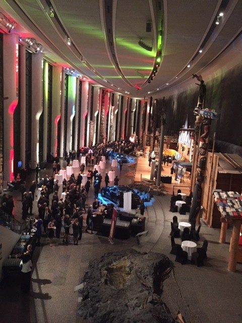 Guests dined on bratwurst and German beer in the Grand Hall of the Canadian Museum of History.