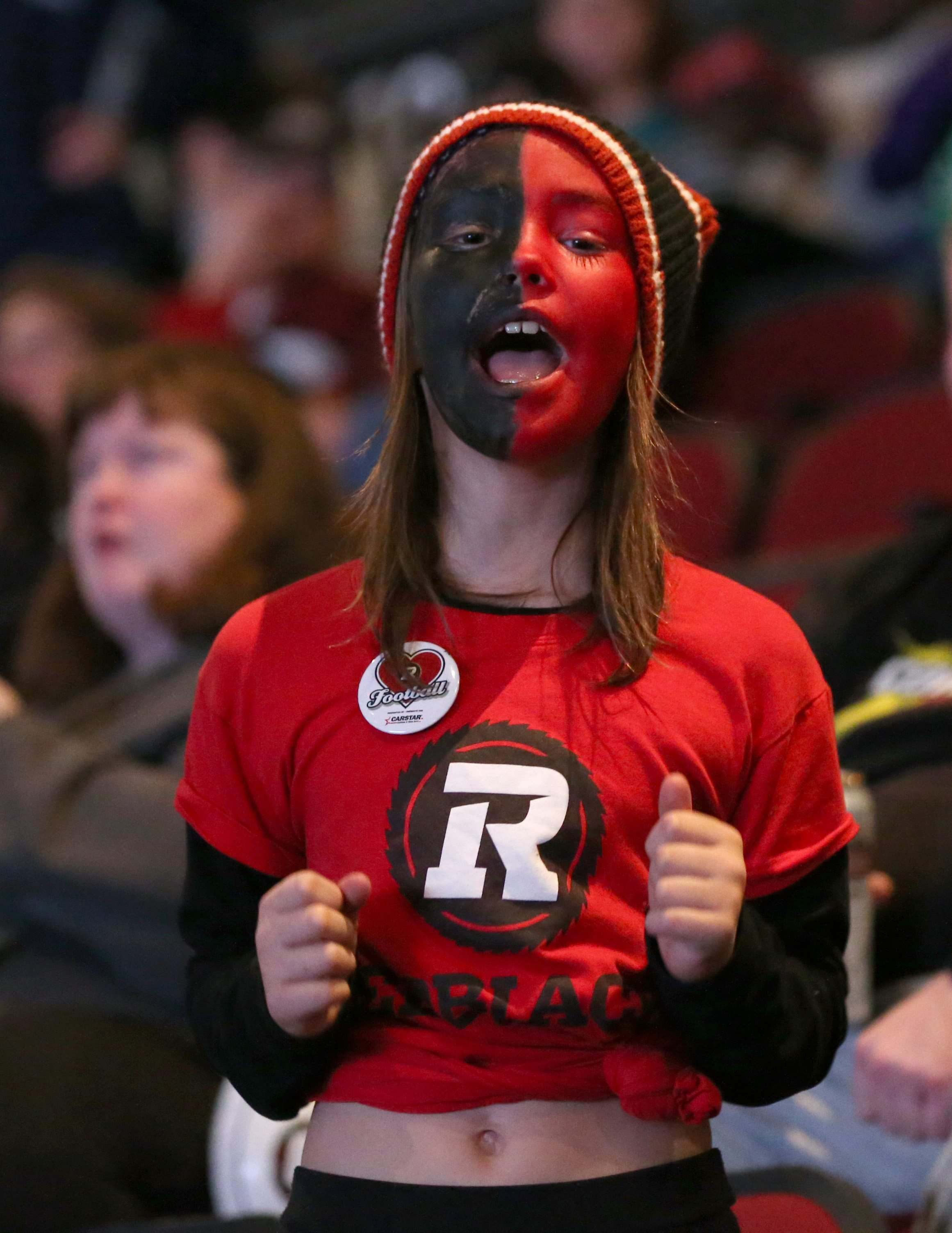 Sophie Gingras, nine, showed her true colours — black and red, of course. Photo by Jana Chytilova, OTTAWA magazine.