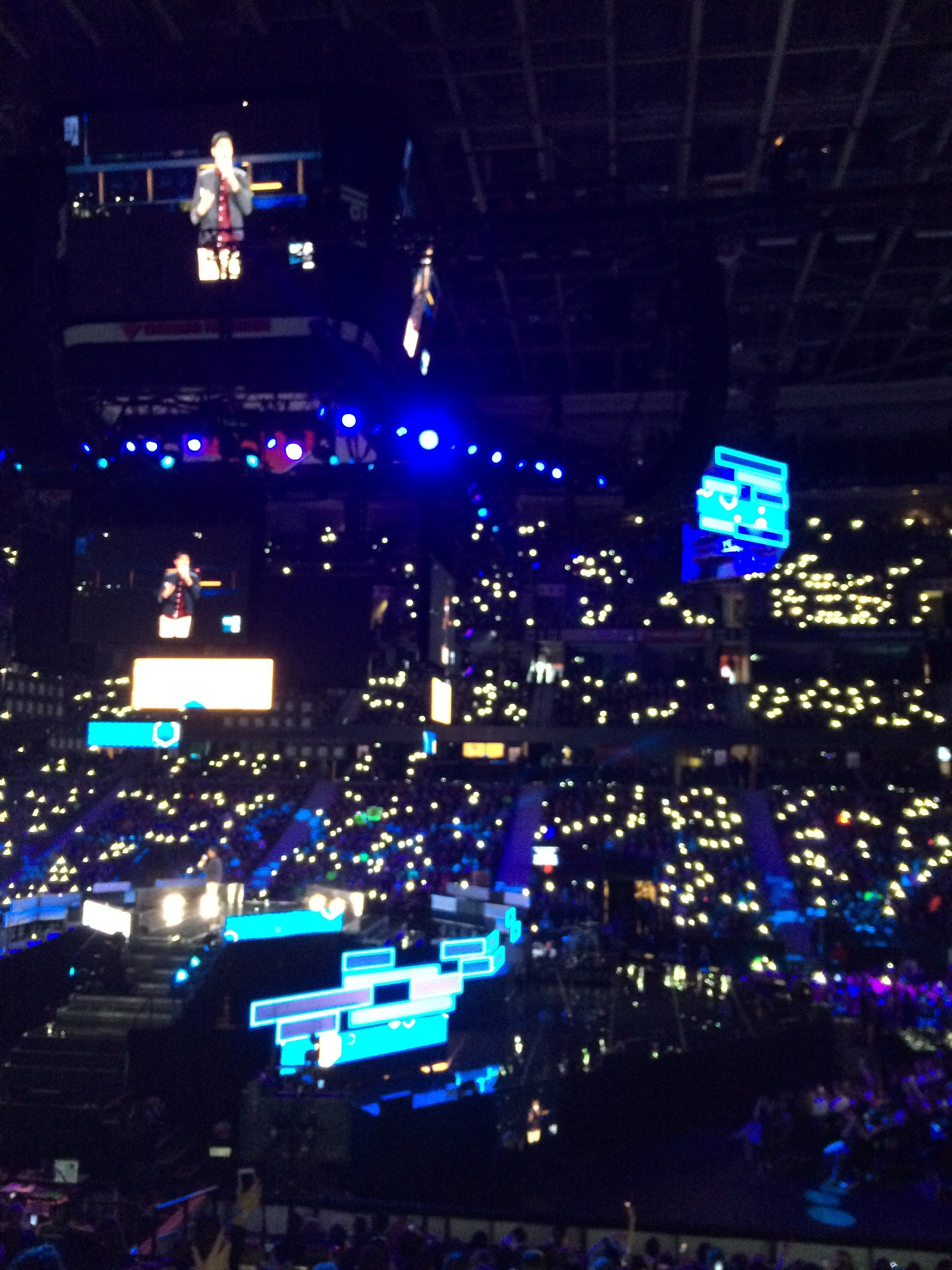 "Students ""light a spark"" at WE Day 2015 at the Canadian Tire Centre. Photo by Leah Eustace, Ottawa Magazine."