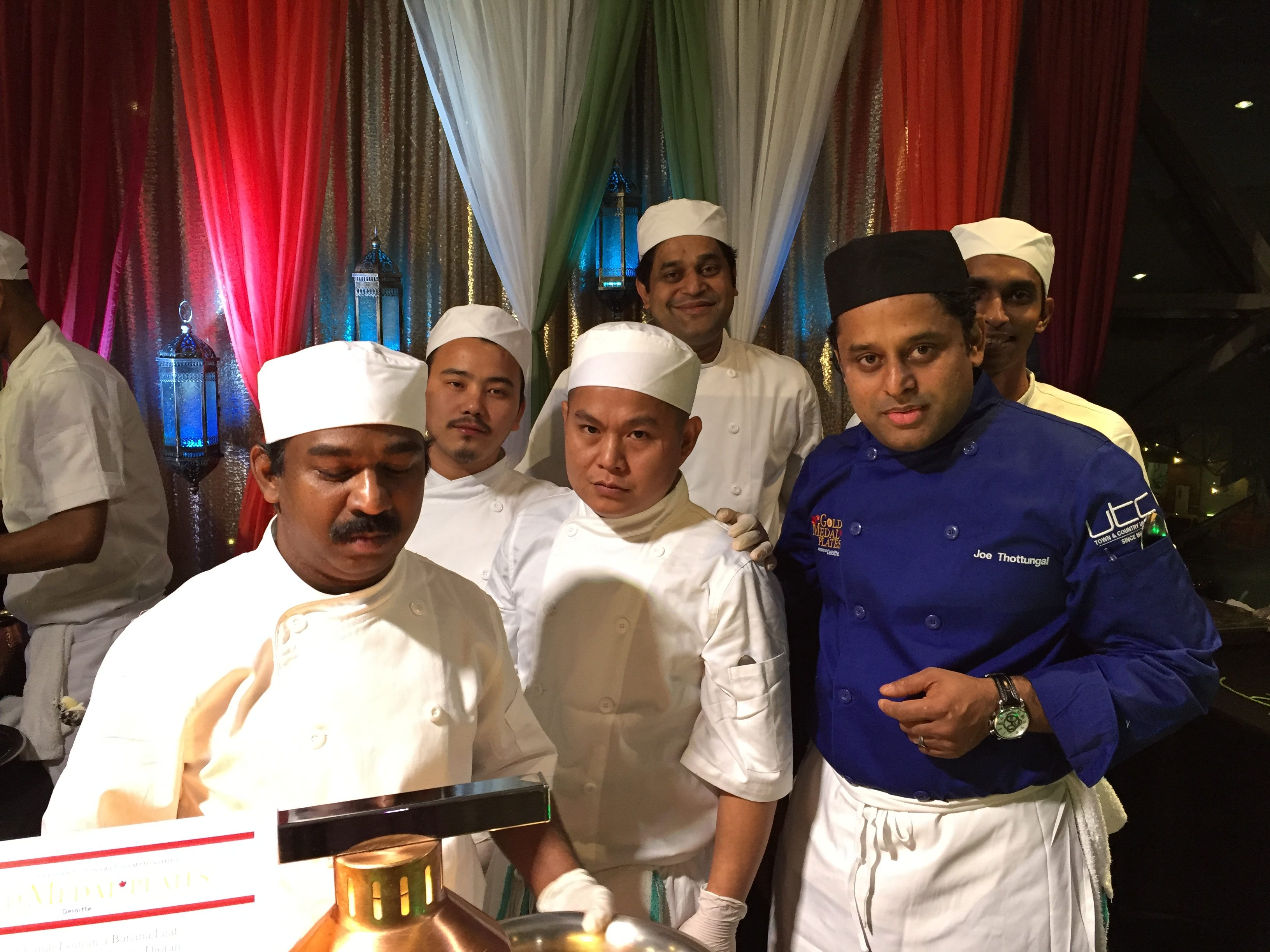 Chef Joe Thottungal and his team from Coconut Lagoon.
