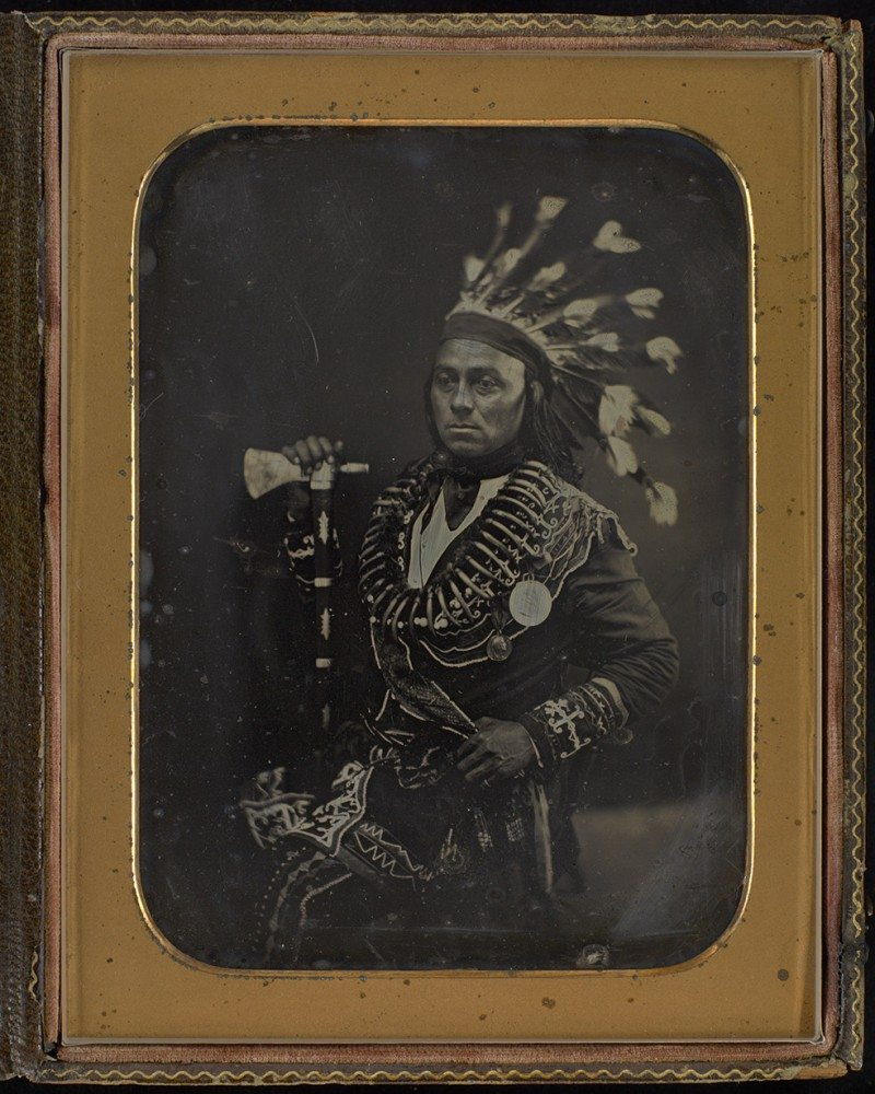 Unknown photographer Maungwudaus, also known as George Henry (c. 1805–after 1877) c. 1846 daguerreotype Library and Archives Canada, e011154379_s2