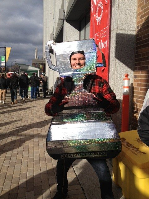 Grey Cup fever broke out at Lansdowne almost immediately. Photo by Julia Wallace, OTTAWA magazine.