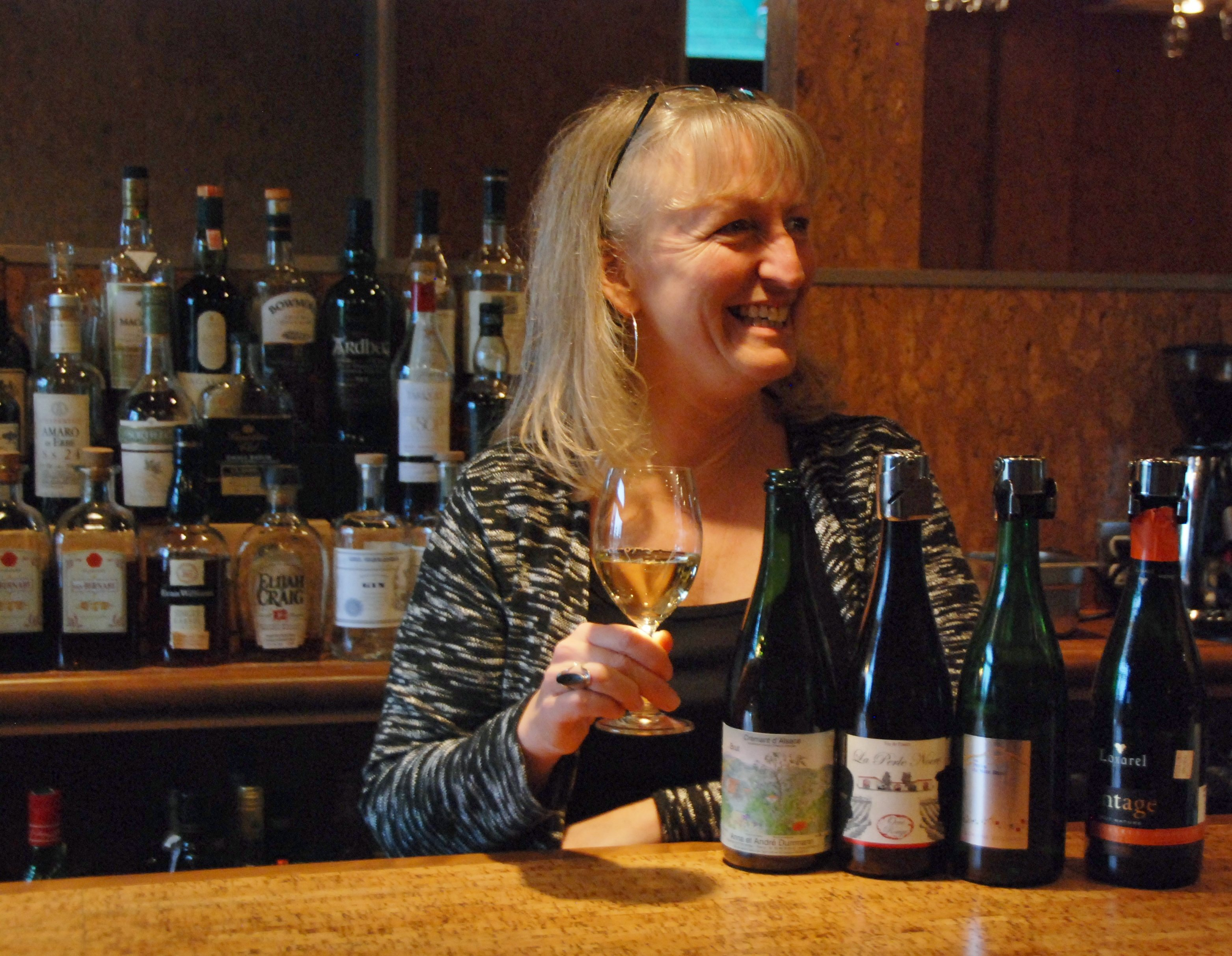 Véronique Rivest recommends serving sparkling wines in regular white wine glasses, allowing you to swirl the wine and enjoy the aroma and taste more fully. Photo by Katie Shapiro, Ottawa Magazine.