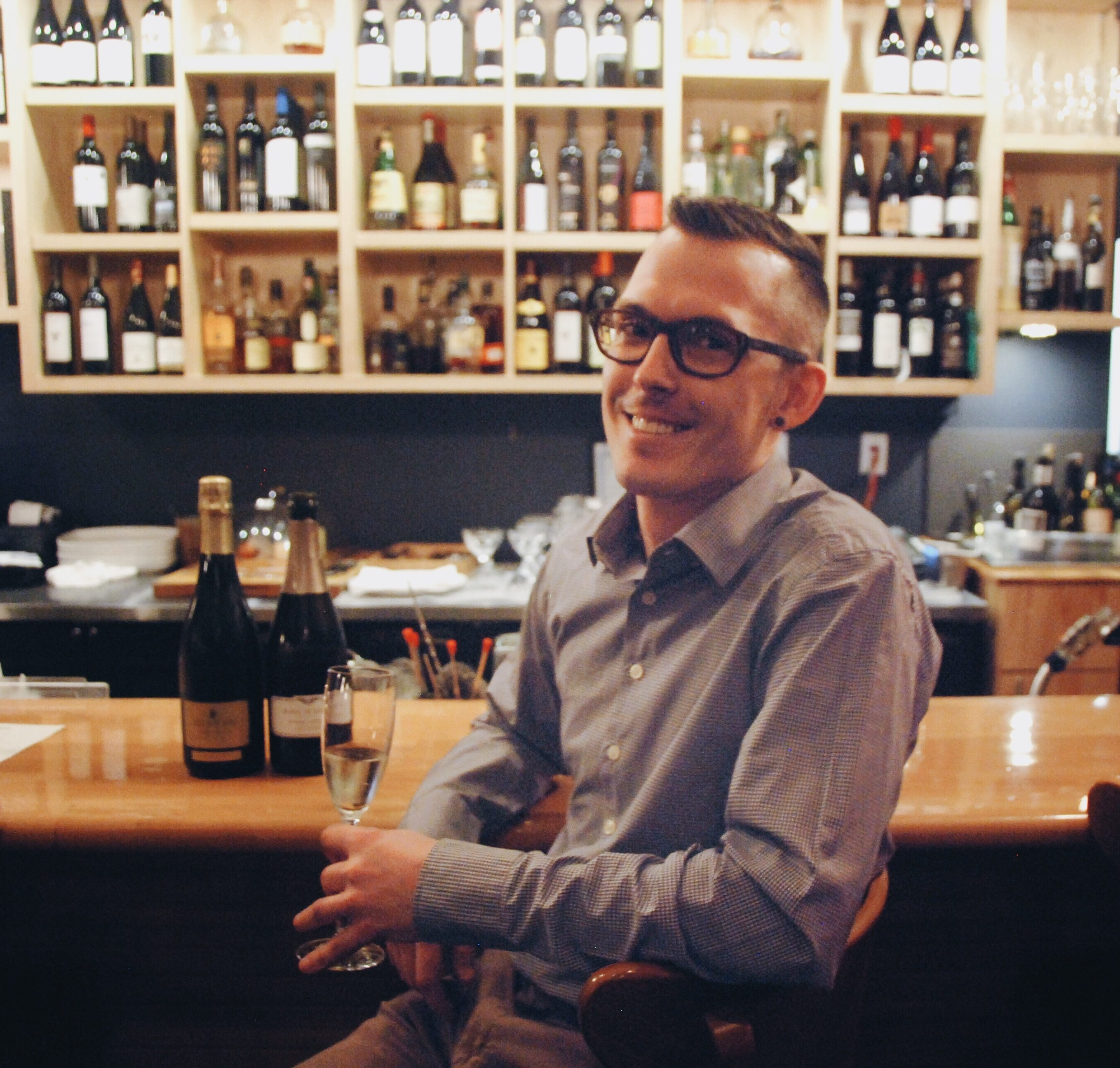 Evan Keaschuk says he'd be more than happy to pair an entire menu with sparkling wines. Photo by Katie Shapiro, Ottawa Magazine.