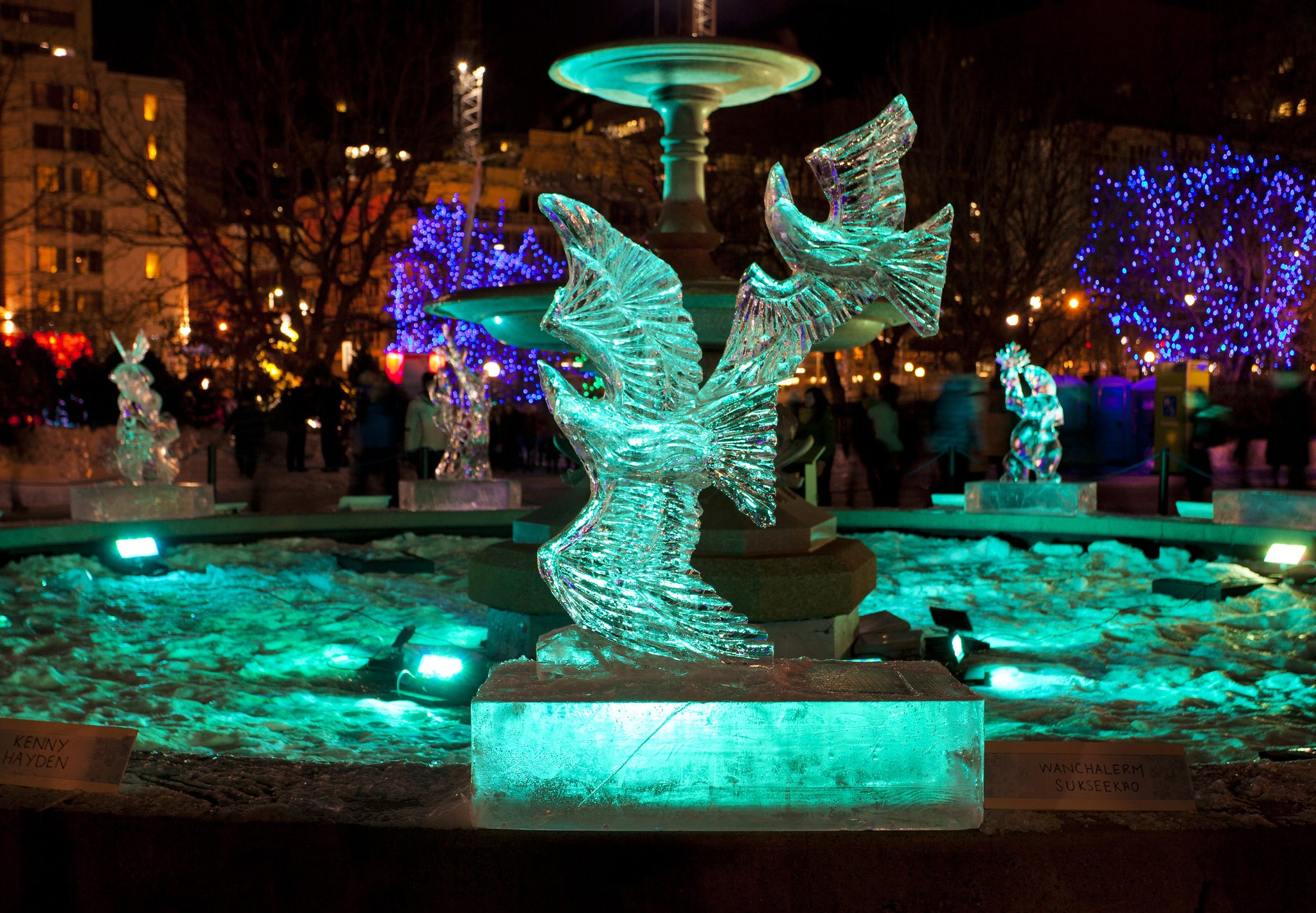 Ice sculptures are always one of the must-see parts of Winterlude. Photo courtesy Canadian Heritage.
