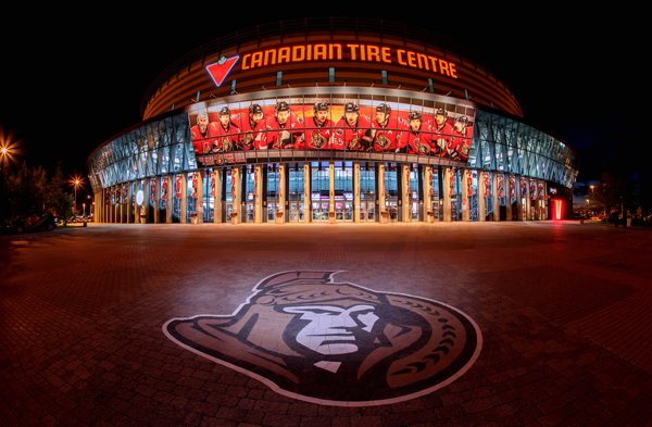 A view of the exterior of the Senators current arena, the Canadian Tire Centre. Photo courtesy of Andre Ringuette Freestyle