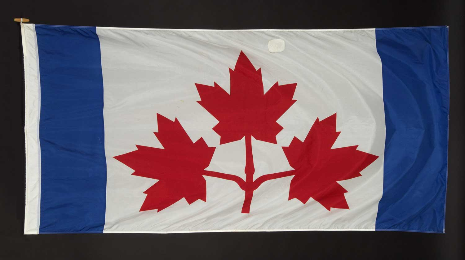 An early prototype of our maple leaf national flag.