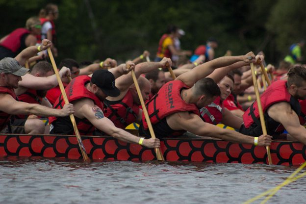 Competitors heave and ho at the Tim Hortons Ottawa Dragon Boat Festival