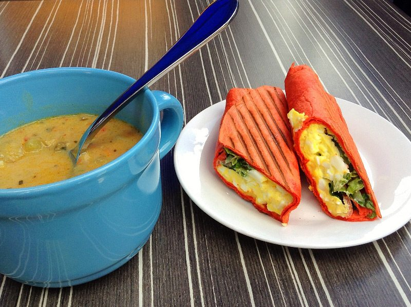 soup and wrap from Soup Guy Cafe