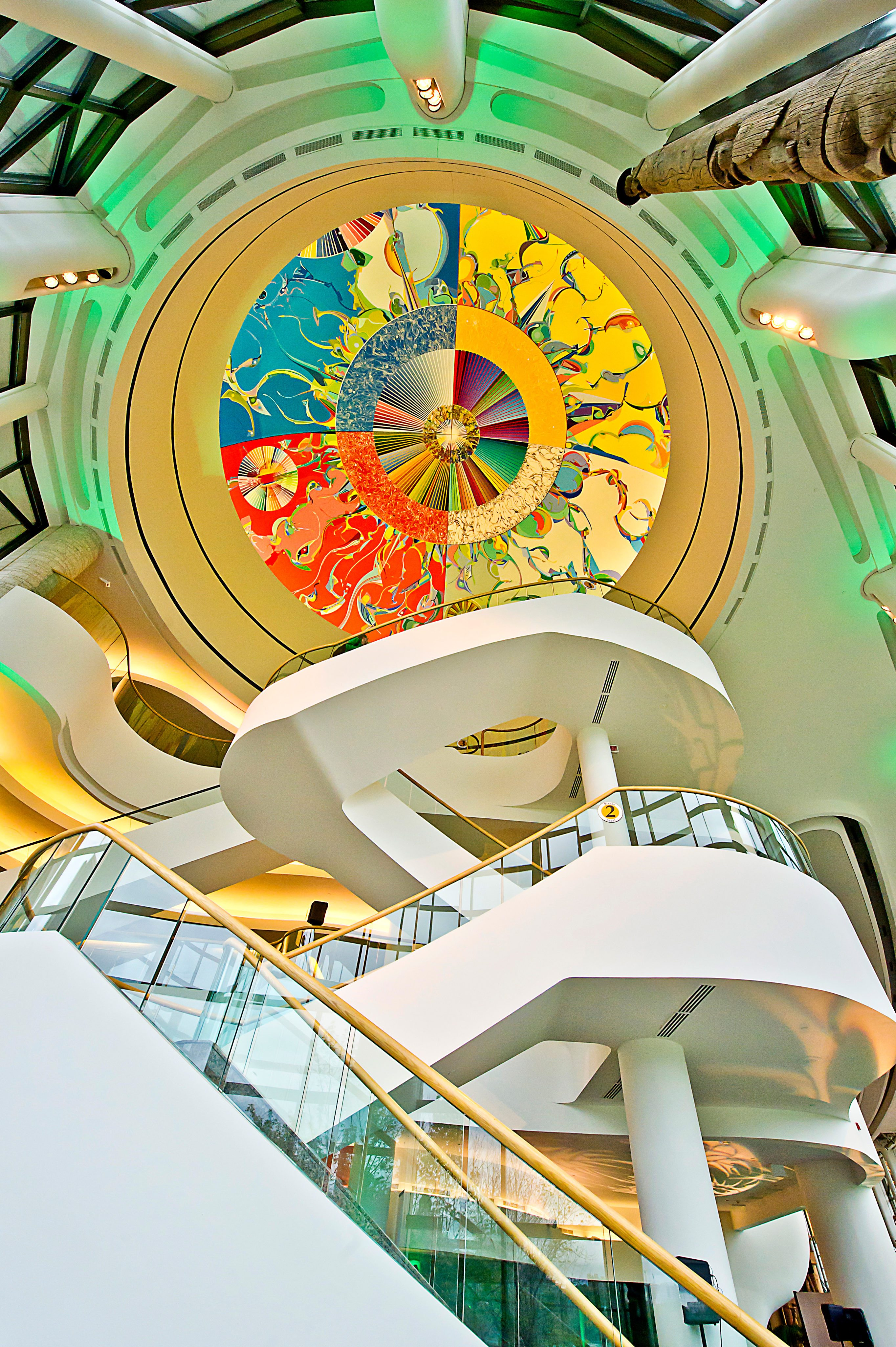 Morning Star, Alex Janvier, on dome of Canadian Museum of History