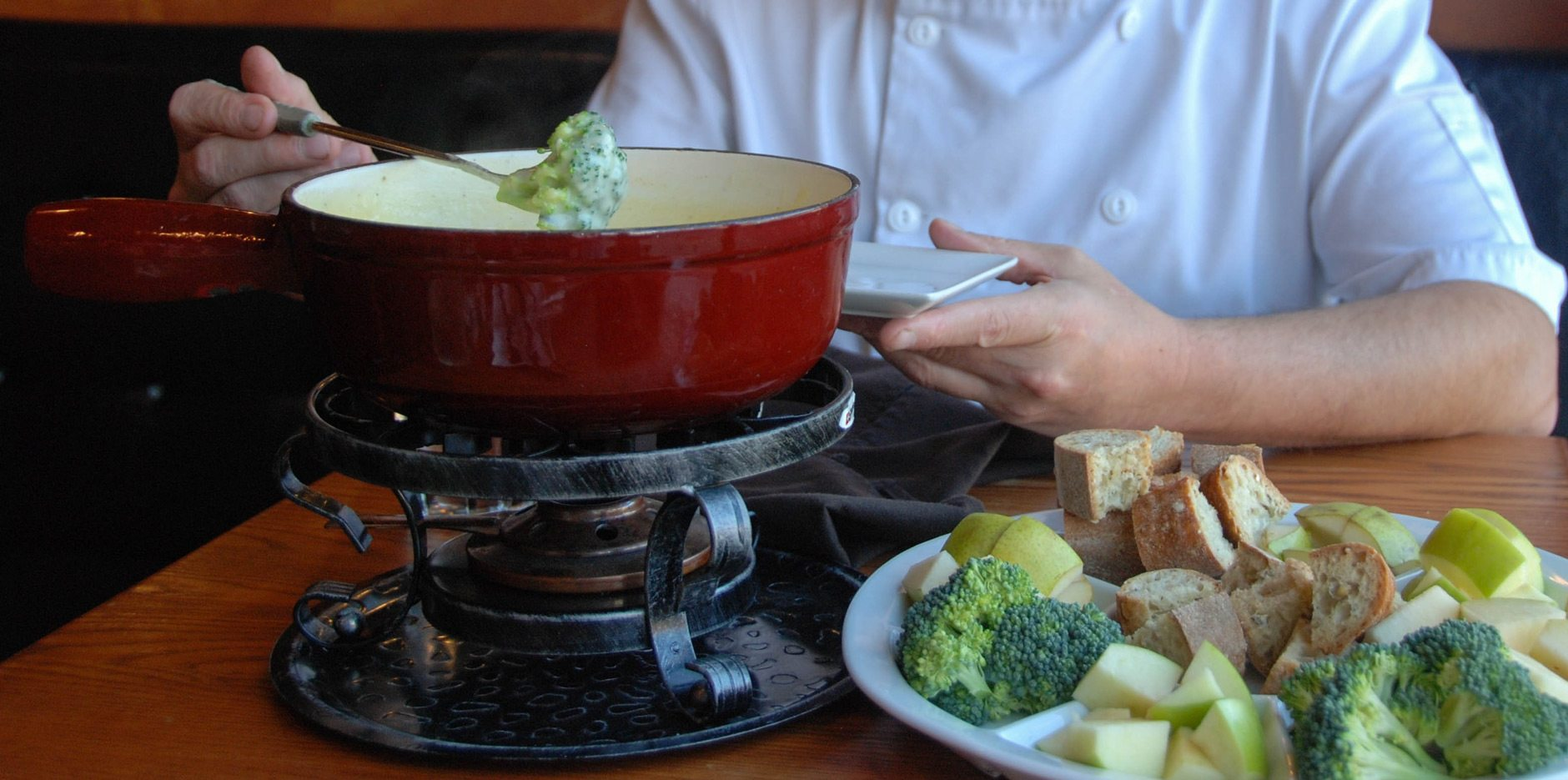Patrick Garland's cheese fondue. Photo: Katie Shapiro