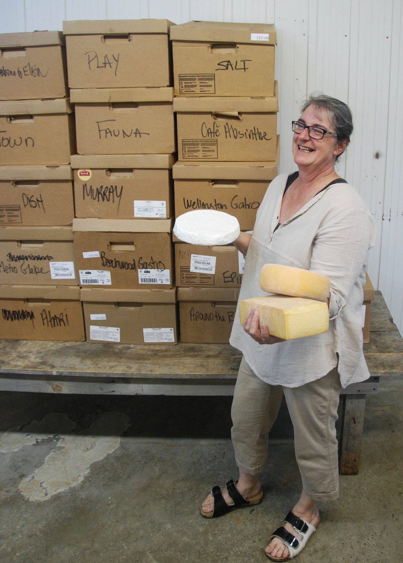 Champion cheesemonger For 15 years, Suzanne Lavoie of Mariposa Farm has been supplying Quebec cheeses to Ottawa restaurants. Photo: Katie Shapiro