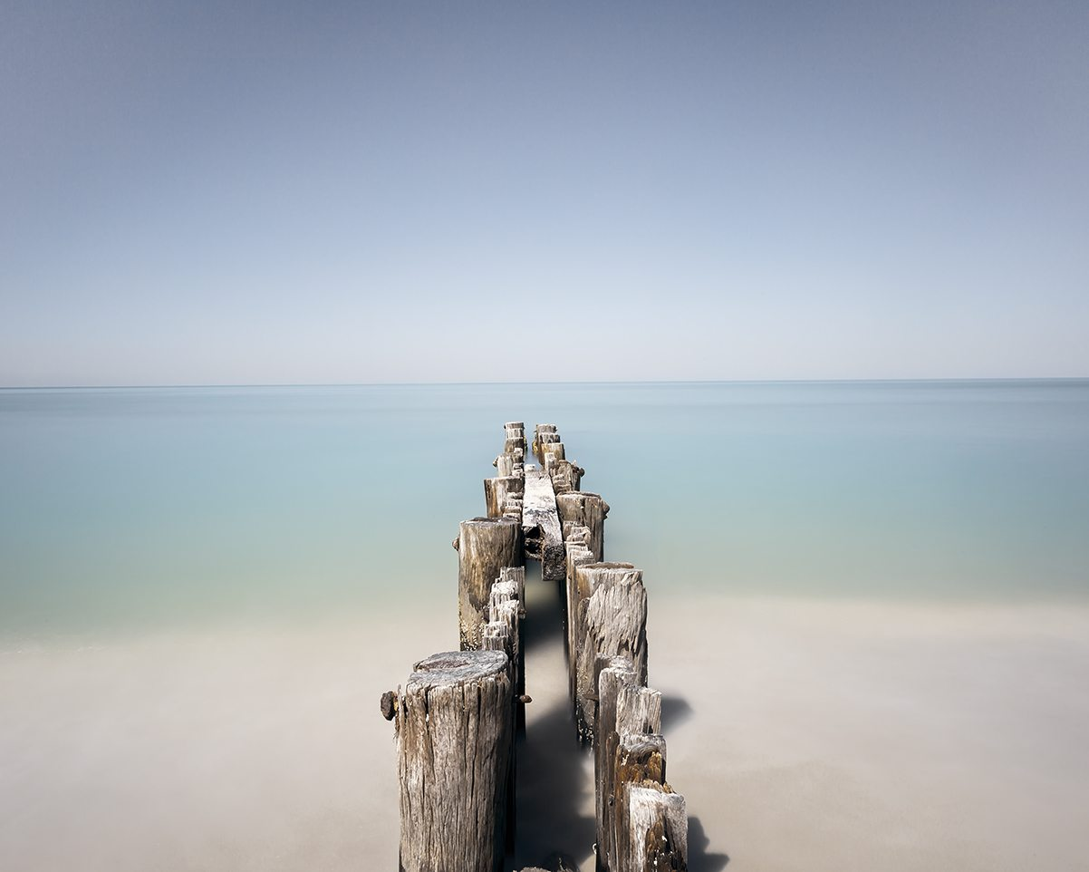 Dock No. 5, Gulf of Mexico, by Christine Fitzgerald. Courtesy of Cube Gallery