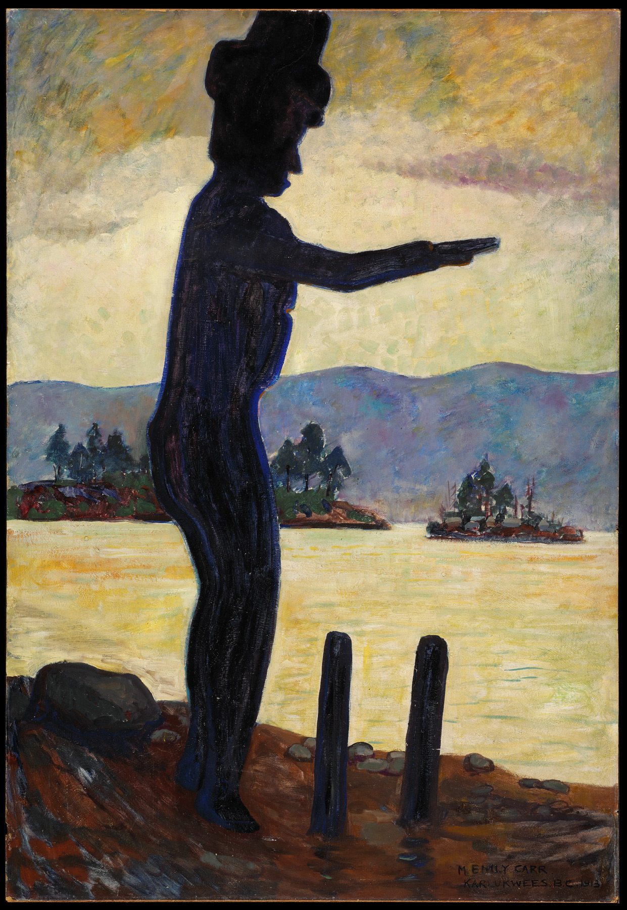 Emily Carr, The Welcome Man, 1913, oil on cardboard, mounted on masonite, 95.3 x 64.8 cm; Gift of Bryan Adams, 2000 National Gallery of Canada, Ottawa. Photo: NGC