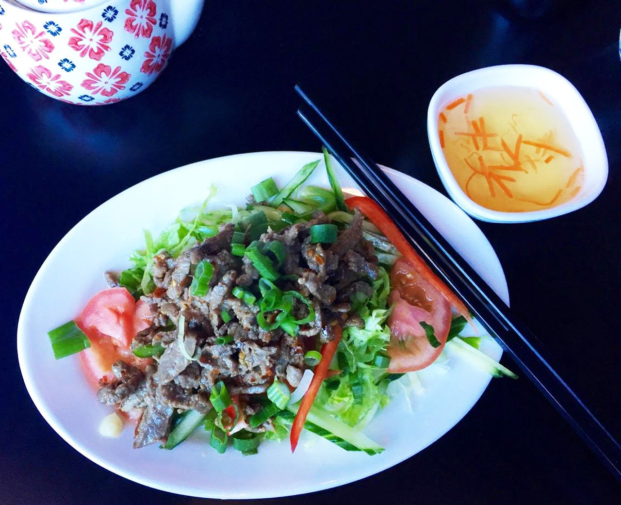 Pho Shack's The beef salad