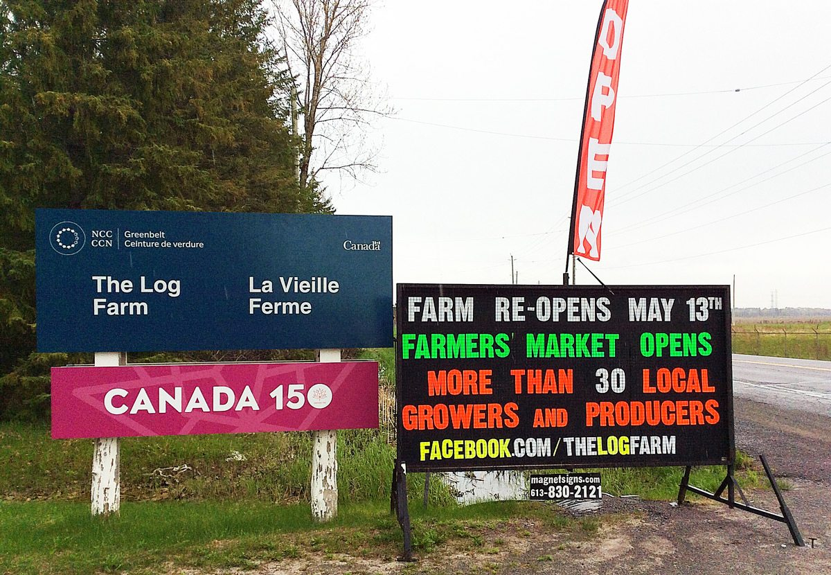 The Log Farm, which is a pioneer historical site and has been known for its sugar bush for years, has now launched an ambitious farmers market