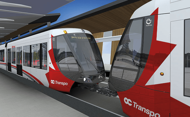 The city is encouraging office development around LRT stations as a way to ensure that the trains are used throughout the day, and not just at peak commute times.