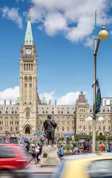 Sir Galahad on Wellington Street in front of Parliament Hill. Photo: Doublespace Photography