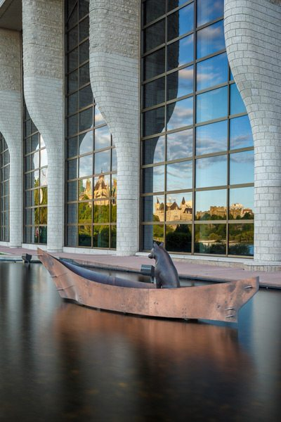 Namaxsala, by Aboriginal artist Mary Anne Barkhouse. It is outside the Canadian Museum of History. Photo: Doublespace Photography