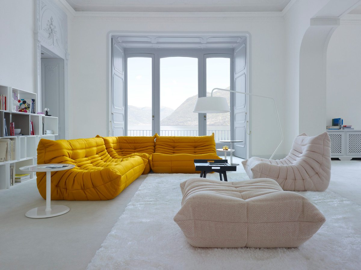 Comfy and stylish, Togo, introduced in the early 1970s, is Ligne Roset's best-selling design