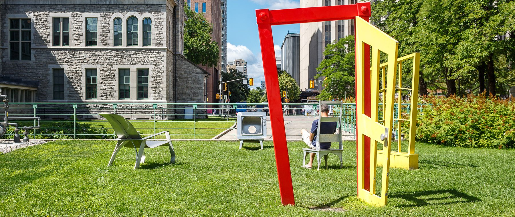 Installation by Urban Keios, which sits outside City Hall. Photo: Doublespace Photography