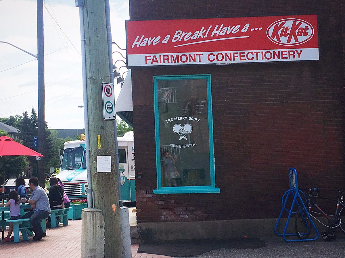 The former Fairmont Confectionery has been transformed into an ice cream store